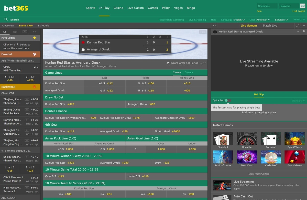 bet365 live betting trends