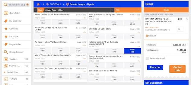 Football betting sites that accept nairabet best sport betting prediction website